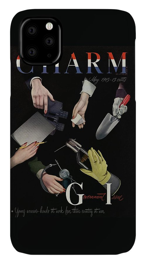 Political IPhone Case featuring the photograph A Charm Cover Of Women's Hands Reaching For Tools by George Karger