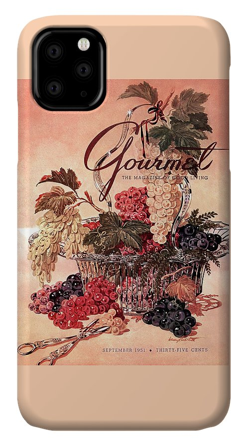 Illustration IPhone Case featuring the photograph A Gourmet Cover Of Grapes by Henry Stahlhut