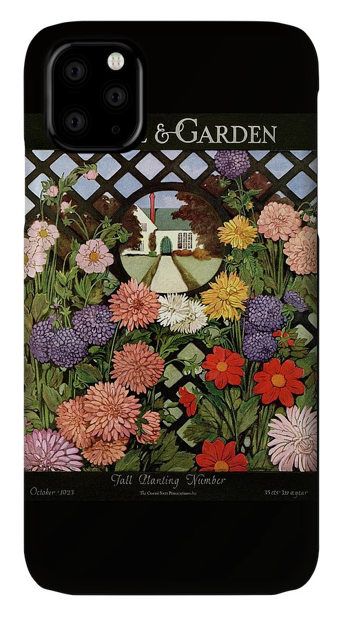 A House And Garden Cover Of Flowers IPhone Case