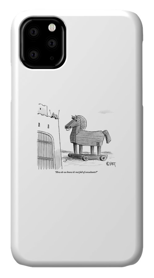 A Large Wooden Horse IPhone 11 Case