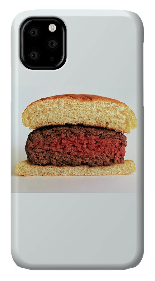 Cooking IPhone Case featuring the photograph A Rare Hamburger by Romulo Yanes
