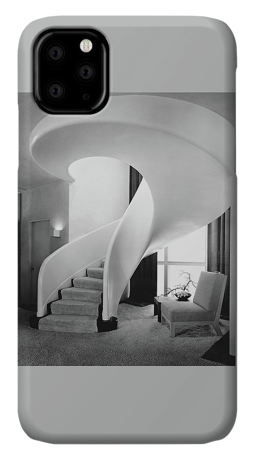 Interior IPhone Case featuring the photograph A Spiral Staircase by Hedrich-Blessing