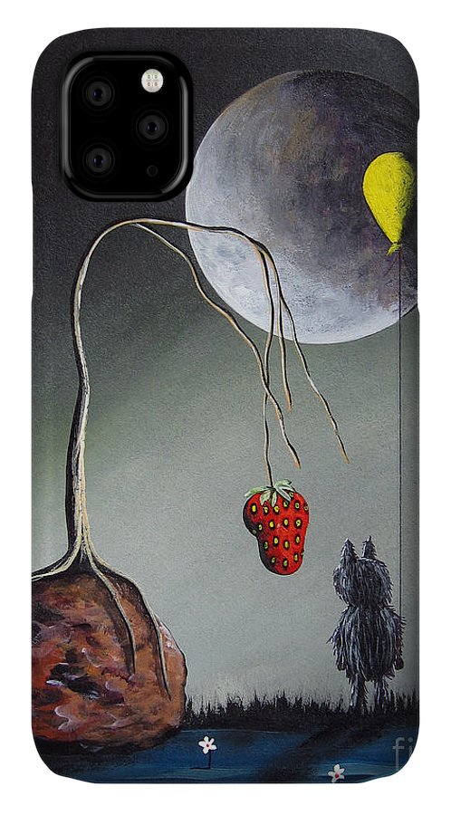 Gothic IPhone Case featuring the painting A Strange Dream by Shawna Erback by Fairy and Fairytale
