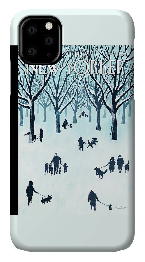 Snow IPhone Case featuring the painting A Walk In The Snow by Mark Ulriksen