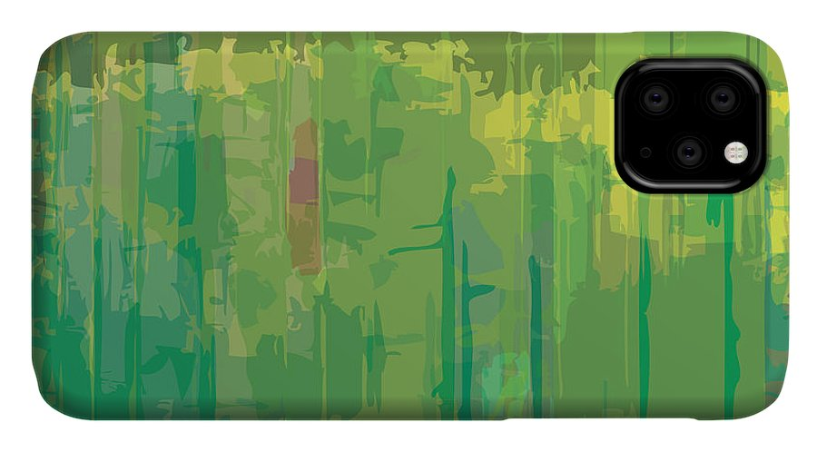 Brushed IPhone 11 Case featuring the digital art Abstract Grunge Scratched Texture by Iulias