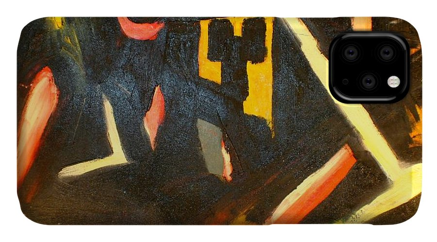 IPhone Case featuring the painting Abstract Houses by Biagio Civale