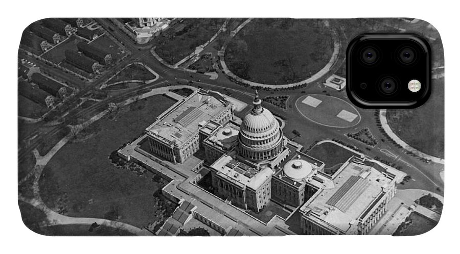 1920s IPhone Case featuring the photograph Aerial View Of U.s. Capitol by Underwood Archives