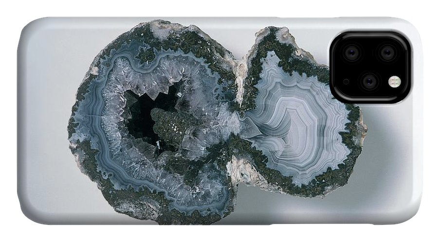 Agate IPhone Case featuring the photograph Agate Crystal by Dorling Kindersley/uig
