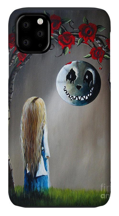 Alice In Wonderland IPhone Case featuring the painting Alice In Wonderland Original Artwork - Alice And The Beautiful Nightmare by Fairy and Fairytale
