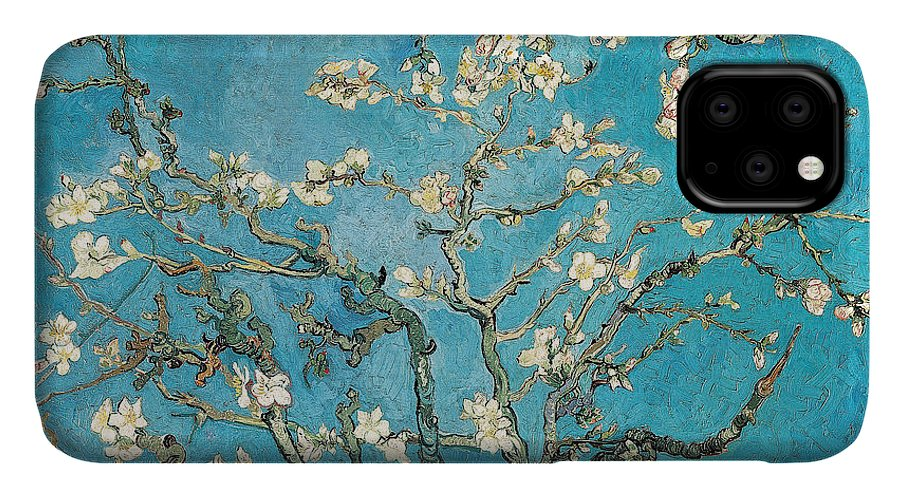 Van IPhone Case featuring the painting Almond branches in bloom by Vincent van Gogh