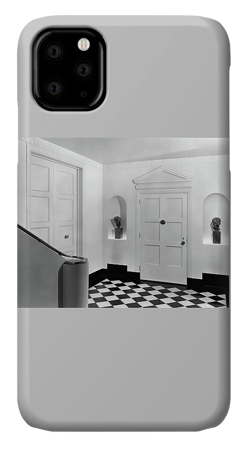 Decorative Art IPhone 11 Case featuring the photograph An Entrance Hall by Peter Nyholm
