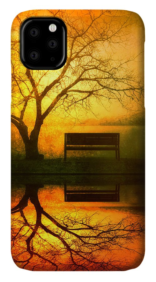 Bench IPhone Case featuring the photograph And I Will Wait For You Until the Sun Goes Down by Tara Turner
