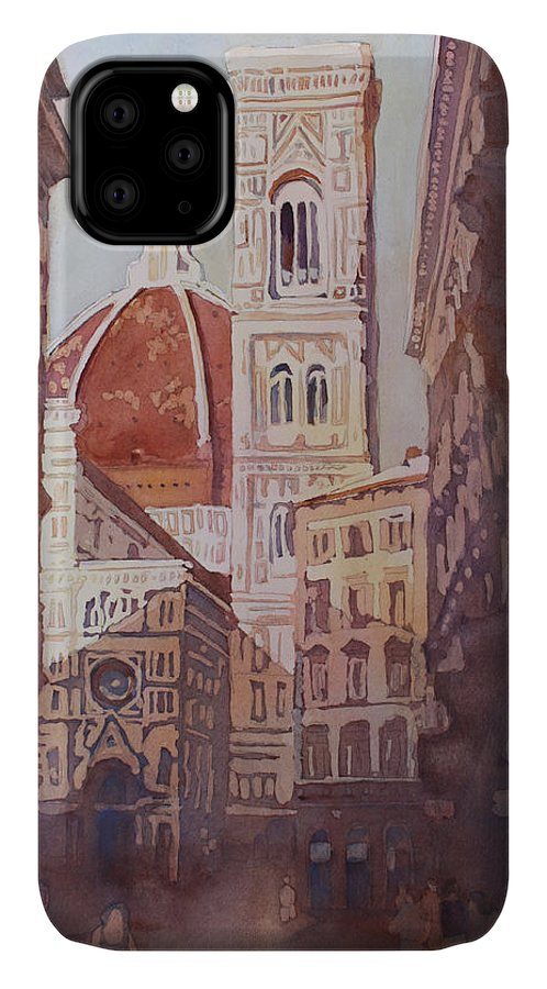 Duomo Campainula IPhone Case featuring the painting And Suddenly The Duomo by Jenny Armitage