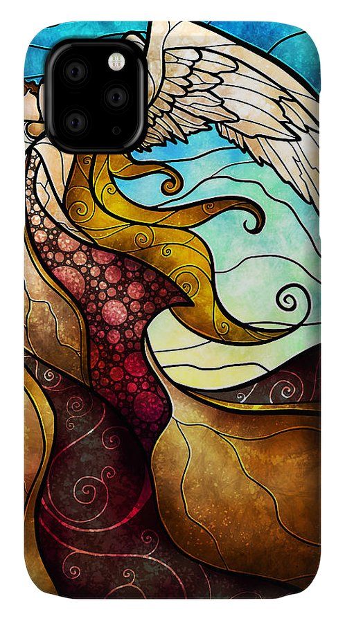 Angel IPhone Case featuring the mixed media Arms Of The Angel by Mandie Manzano