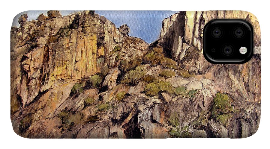 Arribes Del Duero IPhone 11 Case featuring the painting Arribes Del Duero by Tomas Castano