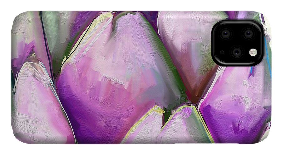 Artichoke IPhone 11 Case featuring the photograph Artichoke 1 by Cathy Walters