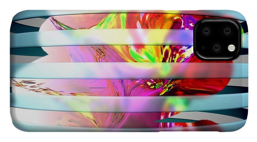 Paint IPhone Case featuring the digital art As The World Turns by HollyWood Creation By linda zanini