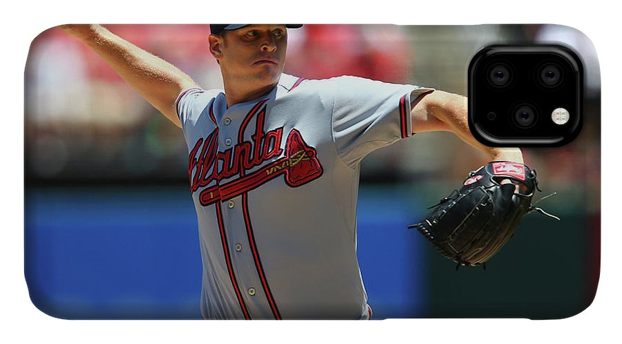 St. Louis IPhone Case featuring the photograph Atlanta Braves V St. Louis Cardinals by Dilip Vishwanat