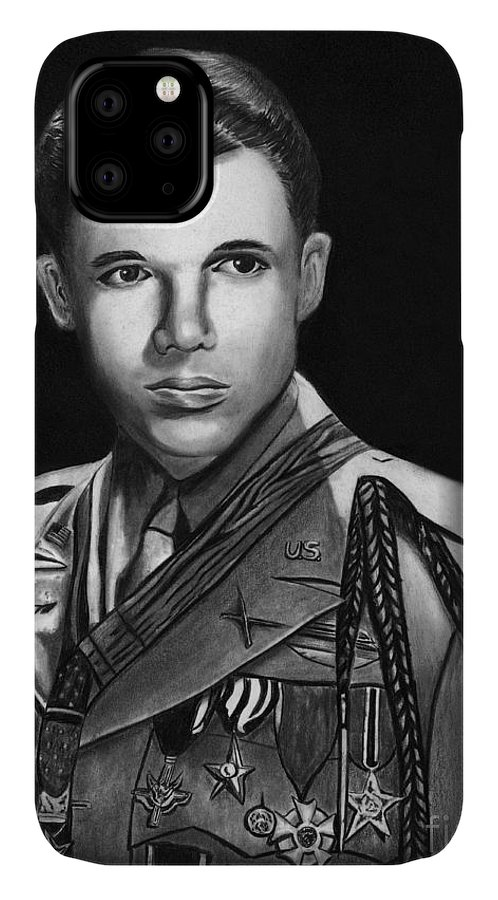 Audie Murphy IPhone Case featuring the drawing Audie Murphy by Peter Piatt