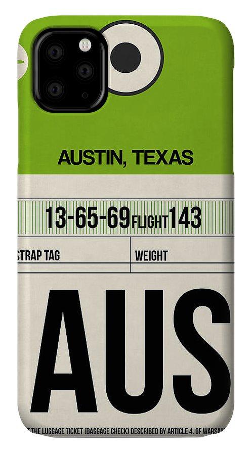 Austin IPhone 11 Case featuring the digital art Austin Airport Poster 1 by Naxart Studio