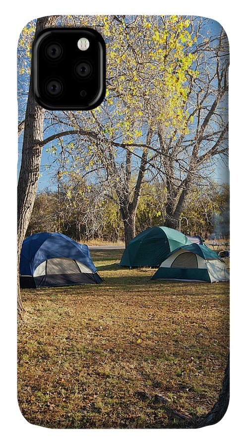 Autumn IPhone 11 Case featuring the photograph Autumn Camping At Copper Breaks State by Larry Ditto