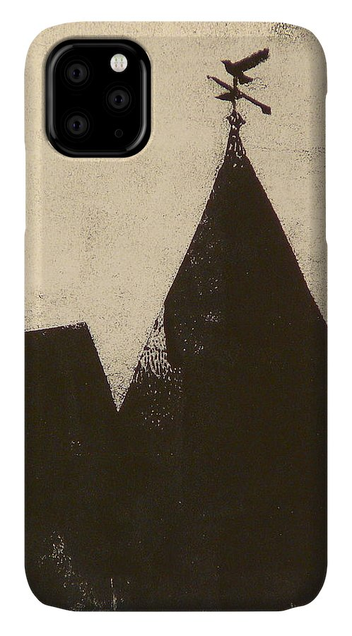 Silhouette IPhone Case featuring the painting Bailey's and Main by Valerie Lynch