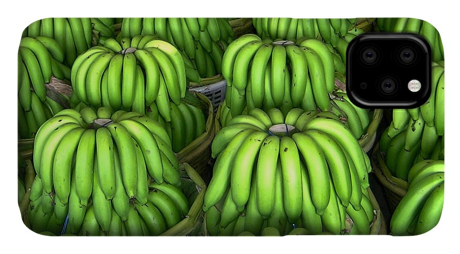 Banana IPhone Case featuring the photograph Banana Bunch Gathering by Douglas Barnett