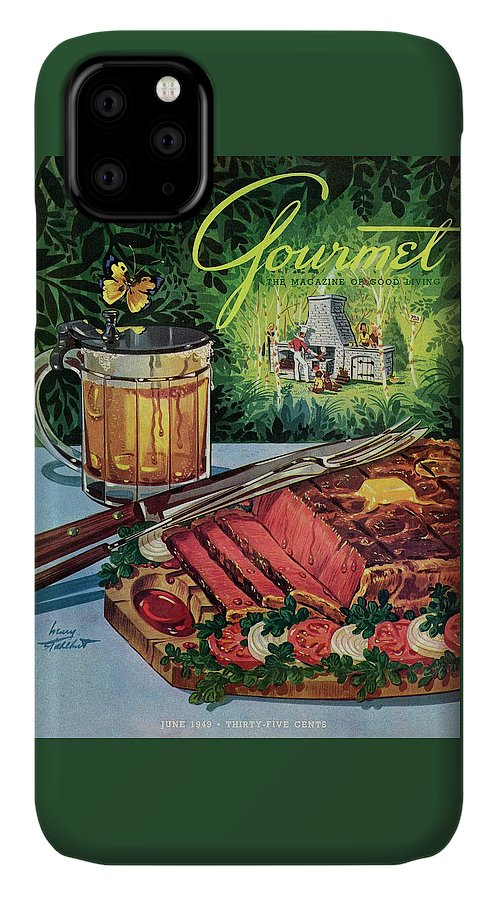 Food IPhone Case featuring the photograph Barbeque Meat And A Mug Of Beer by Henry Stahlhut