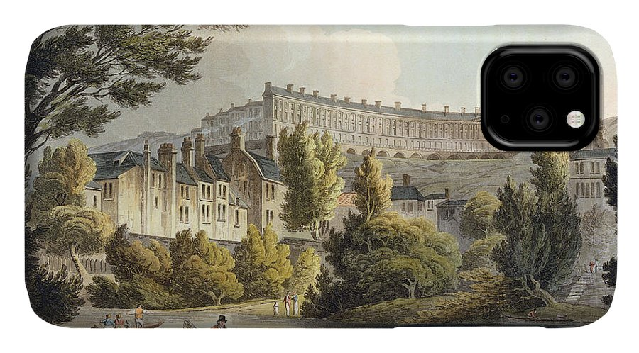 Print IPhone Case featuring the drawing Bath Wick Ferry, From Bath Illustrated by John Claude Nattes