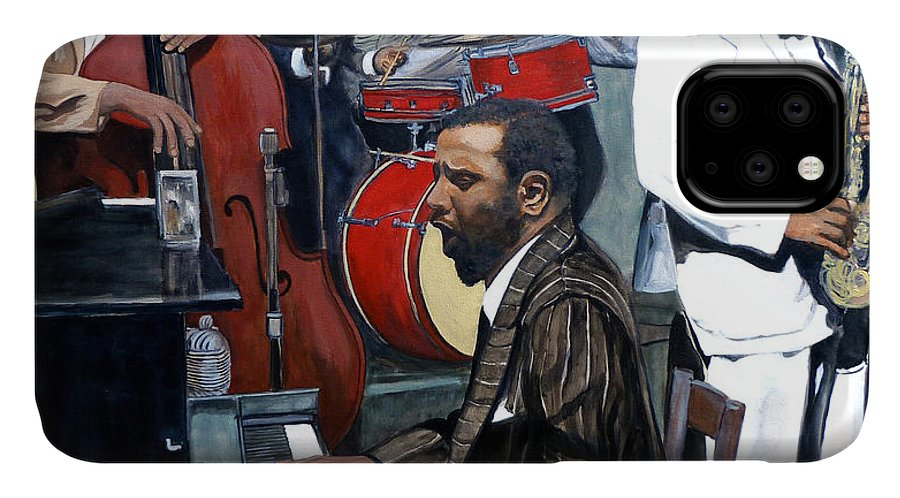 Musicans IPhone Case featuring the painting Bebop 'til You Drop by Tom Roderick