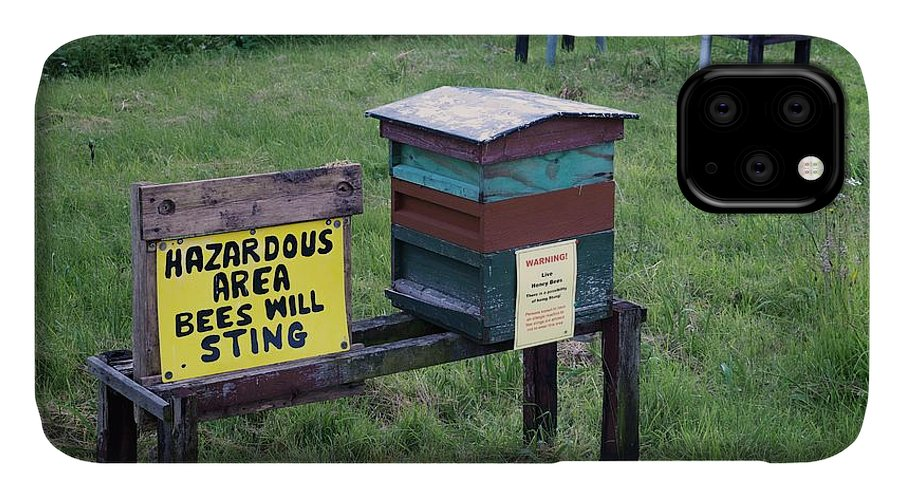 Hazard IPhone Case featuring the photograph Bee Hives by Robert Brook
