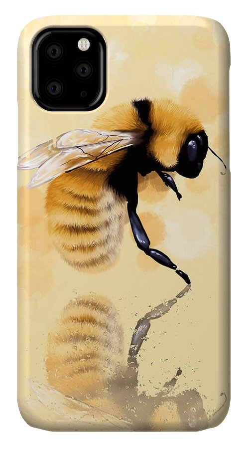 Bee IPhone Case featuring the painting Bee by Veronica Minozzi