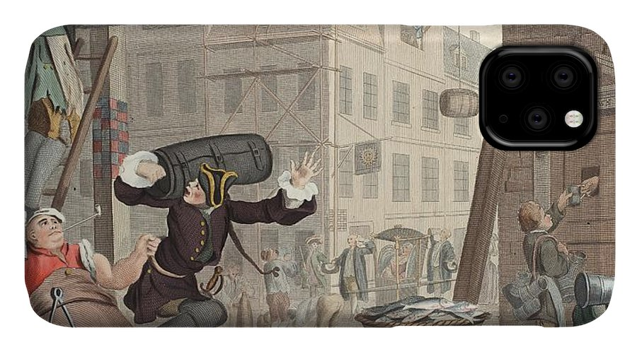 Satire IPhone Case featuring the drawing Beer Street, Illustration From Hogarth by William Hogarth