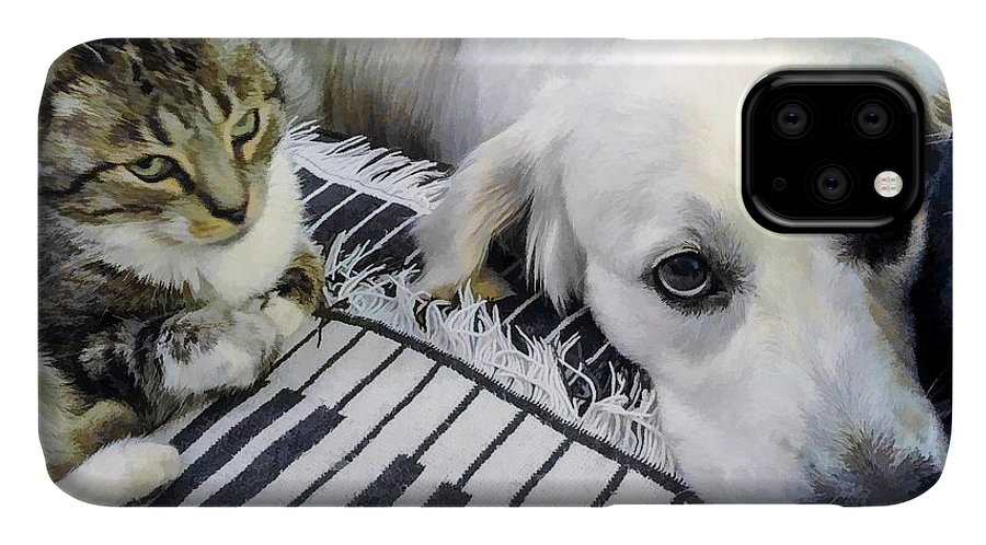 IPhone Case featuring the digital art Bella And Peroni by Photographic Art by Russel Ray Photos