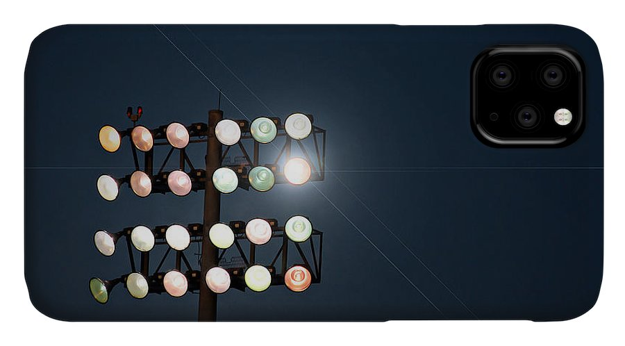 Lights IPhone Case featuring the photograph Beneath Friday Night Lights by Trish Mistric
