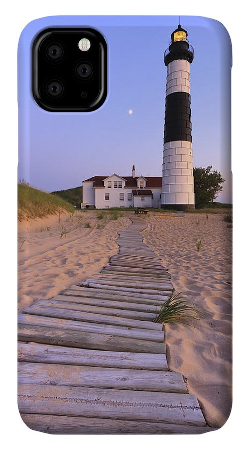 3scape Photos IPhone Case featuring the photograph Big Sable Point Lighthouse by Adam Romanowicz
