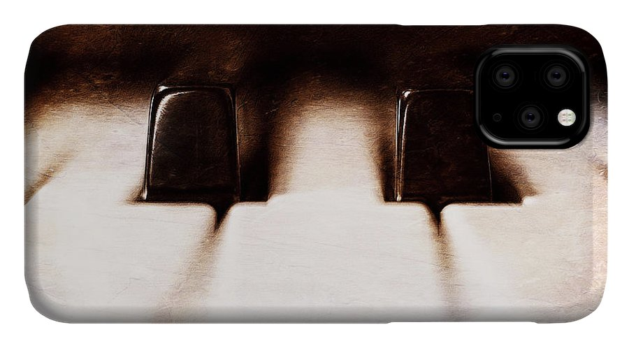 Piano IPhone 11 Case featuring the photograph Black Keys D Flat And E Flat by Scott Norris