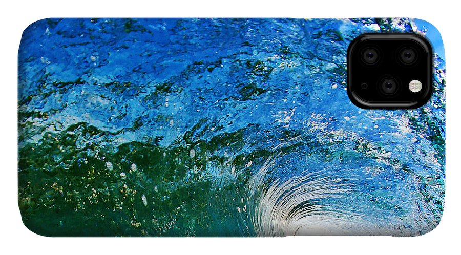Ocean IPhone Case featuring the photograph Blue Tube by Paul Topp