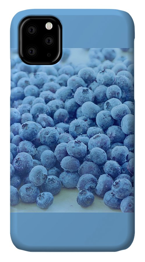 Berries IPhone Case featuring the photograph Blueberries by Romulo Yanes