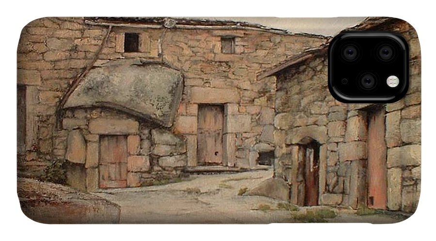Fermoselle IPhone Case featuring the painting Bodegas en Fermoselle by Tomas Castano