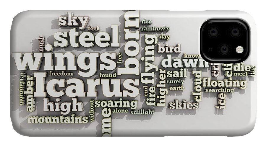 Borne IPhone 11 Case featuring the digital art Borne On Wings Of Steel by Scott Norris