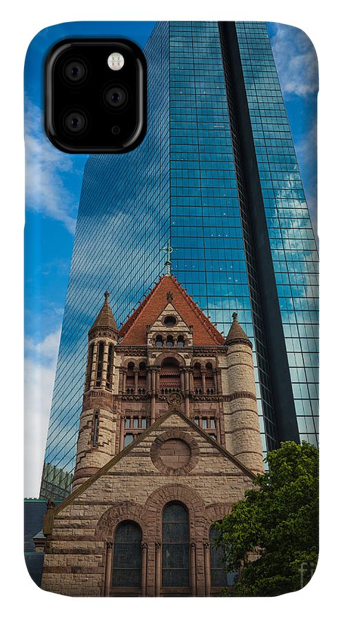 America IPhone 11 Case featuring the photograph Boston Trinity Church by Inge Johnsson