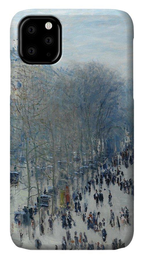 Monet IPhone Case featuring the painting Boulevard Des Capucines by Claude Monet