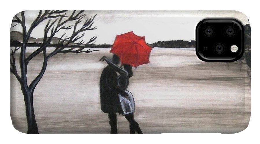 Love Valentine Romance Romantic IPhone Case featuring the painting Bound by Love by Manjiri Kanvinde