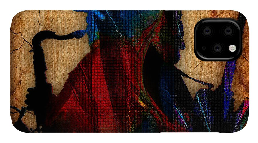 Bruce Springsteen Art IPhone Case featuring the mixed media Bruce Springsteen Collcetion by Marvin Blaine
