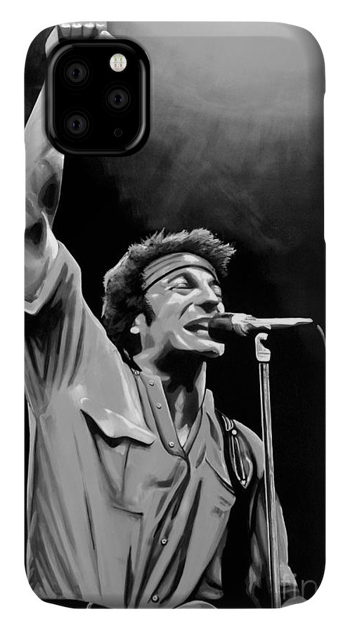 Bruce Springsteen IPhone Case featuring the mixed media Bruce Springsteen by Meijering Manupix