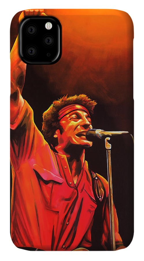 Bruce Springsteen IPhone Case featuring the painting Bruce Springsteen Painting by Paul Meijering