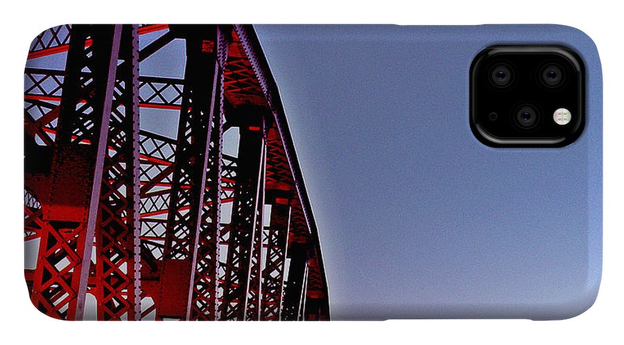 Burrard Street Bridge IPhone Case featuring the photograph Burrard Street Bridge Vancouver by Brian Chase