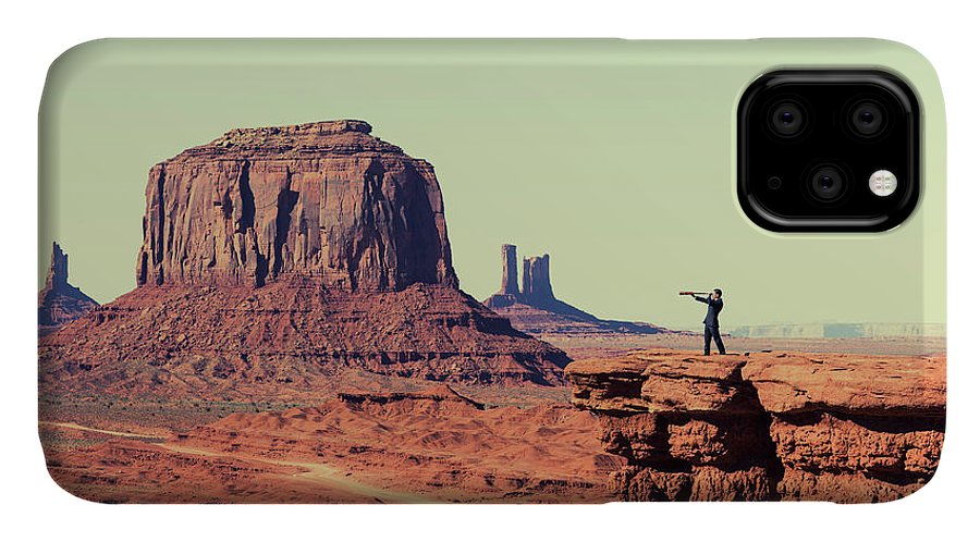 Corporate Business IPhone Case featuring the photograph Business Vision by Richvintage