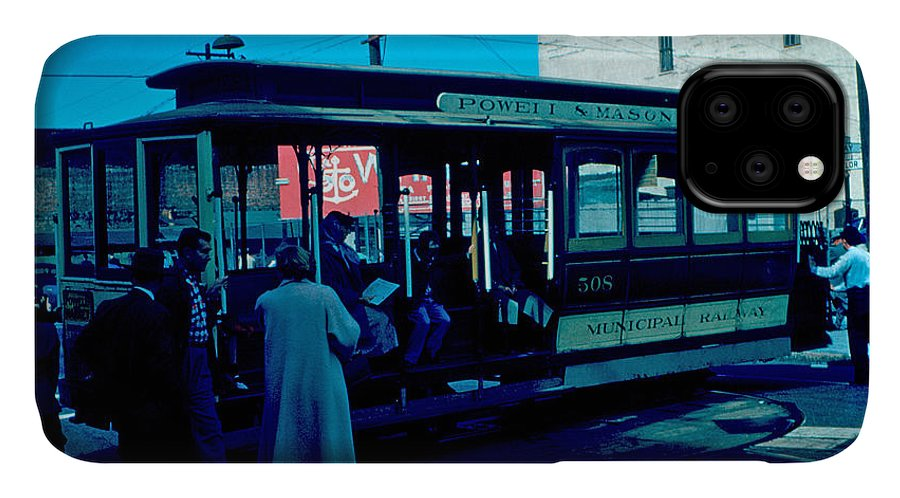 Cable Car IPhone Case featuring the photograph Cable Car 1955 by Cumberland Warden
